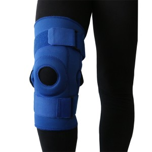 Hinged Knee Brace with Patella Stabilizer and knee protection pad for patella displacement prevention
