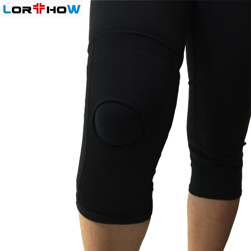 Elastic Knit Knee Sleeve Brace with bilateral spring ,kneelet,knee protector Featured Image