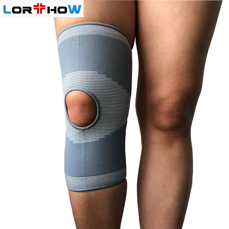 Elastic Knit Knee Sleeve Brace with bilateral spring stays and open patella Featured Image
