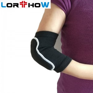 Adjustable Pad Protector Elastic Knit Elbow Brace Support Wrap for Pain Relief with elbow pad