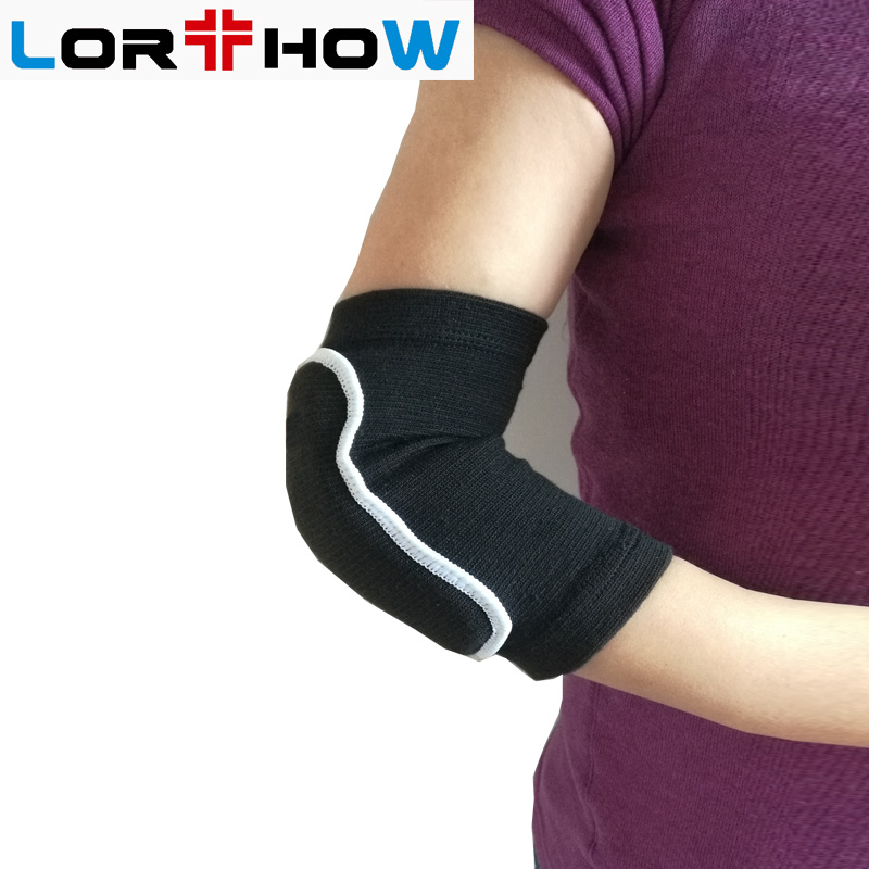 Adjustable Pad Protector Elastic Knit Elbow Brace Support Wrap for Pain Relief with elbow pad Featured Image