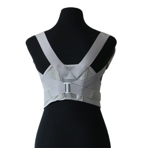 Mesh Clavicle Brace for Posture Immobilizer with anti-slipery bars and x-belts for Reinforcement