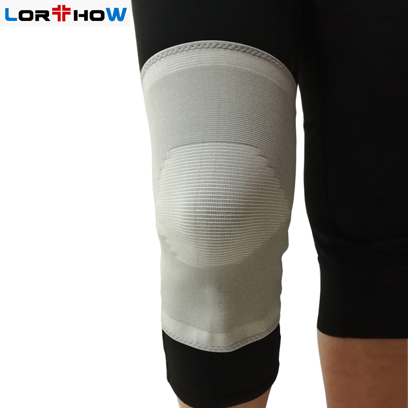 Pull-up Medical Elastic Knit Knee Sleeve Brace with cap patella for Medical Rehabiliation whole sale Featured Image