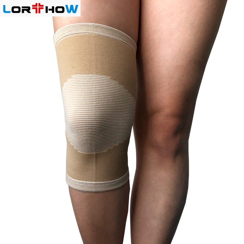 Medical Elastic Knit Knee Support Brace Wrap Sleeve with Cap Patella of Carbon Fiber material knee band  Knee protector Featured Image