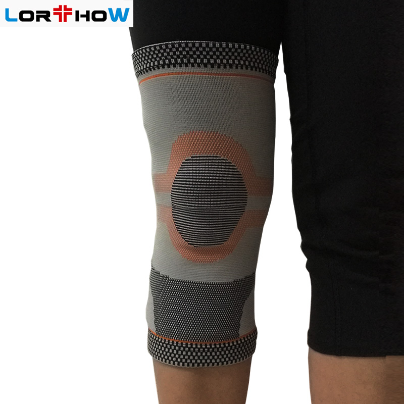 Jacquard Knitted High Elastic Knee Sleeve Brace with Custom Pattern for pain relief Knee protector kneelet kneeguard Featured Image
