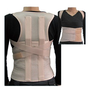 Reinforced orthopedic Clavicle Immobilizer with contoured metal stays for lumbar support dorsal spine straightening