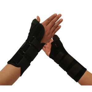 Medical Wrist -Thumb Splint Support Brace with contoured stays and velcro straps for wrist fracture sprain immobilization
