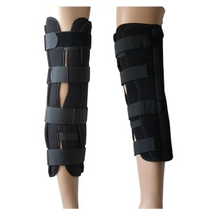 Tri-panel Knee Immobilizer with Contoured Aluminum Stays for Proper Supporting