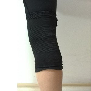 Elastic Knit Knee Sleeve Brace with bilateral spring