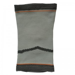 Jacquard Knitted High Elastic Knee Sleeve Brace with Custom Pattern for pain relief Knee protector kneelet kneeguard
