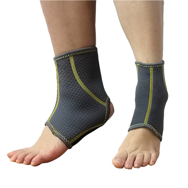 Flexible Neoprene Ankle Brace with open toe and heel design to support overstressed ankle; Featured Image