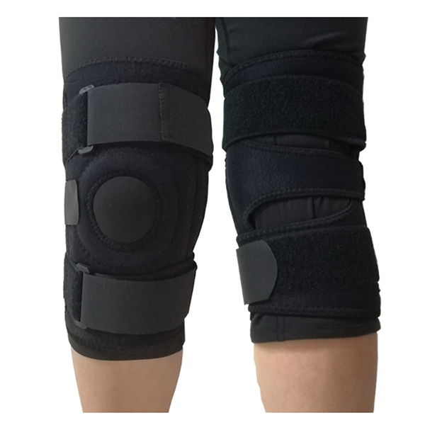 Open petella knee stabilizer wrap with spring stays for  patella displacement prevention Featured Image