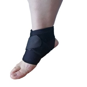 Reinforced Orthopedic Ankle Support brace for Spained Ankle;Adjustable Neoprene Ankle Sleeve with Removable Elastic Strap