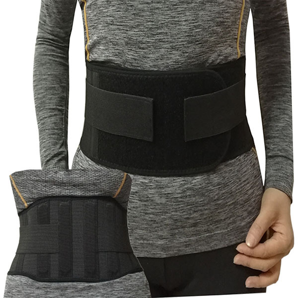 Corchet elastic band sacro lumbar brace binder with contoured rigid stays and extra straps for waist compression relief Featured Image