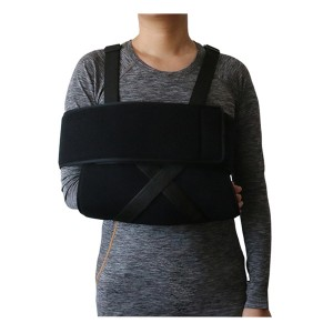 Foam arm sling shoulder immobilizer fits both left and right arm