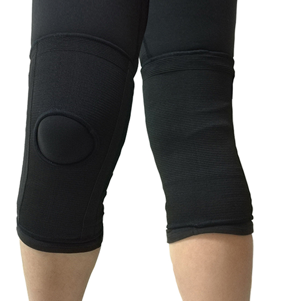 Elastic Knit Knee Sleeve Brace with bilateral spring Featured Image