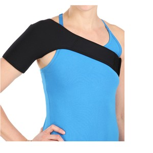 Shoulder Support Brace made of stretchable neoprene to minimize potential injuries