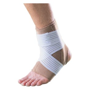 Neoprene Ankle Splint with Spiral Springs and Elastic Band