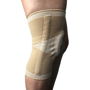 Open Patella seamless knitting elastic knee brace with bilateral spring stays