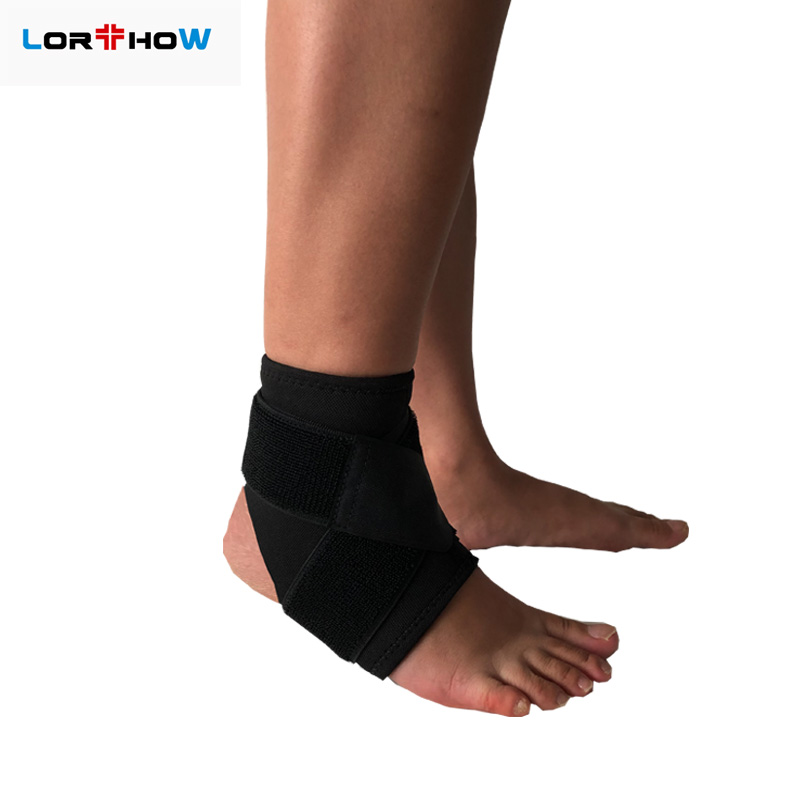 Reinforced Orthopedic Ankle Support brace for Spained Ankle;Adjustable Neoprene Ankle Sleeve with Removable Elastic Strap Featured Image