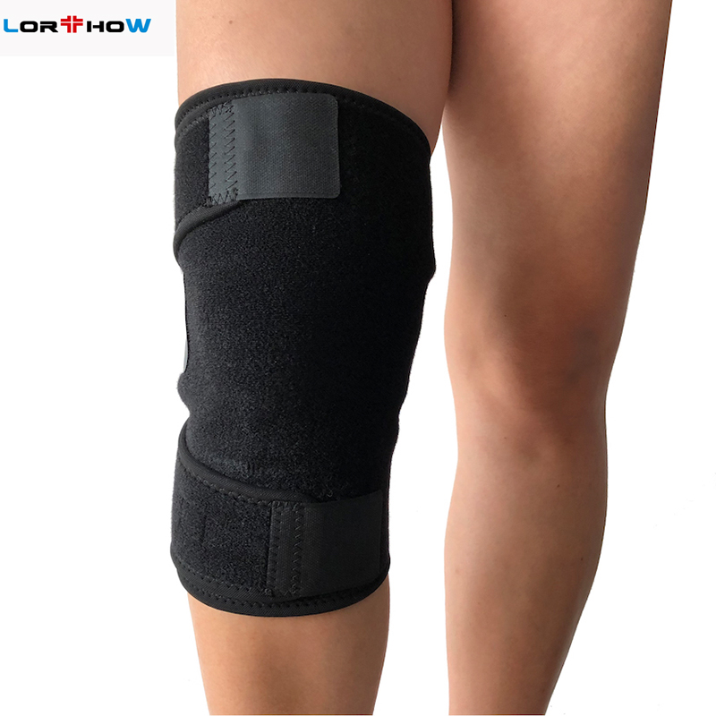 Single size Open sport gym support Knee Wrap for weak or stressed knee or arthritis black Featured Image