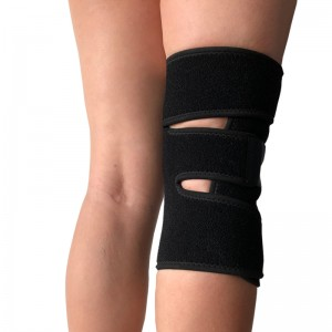 Single size Open sport gym support Knee Wrap for weak or stressed knee or arthritis black