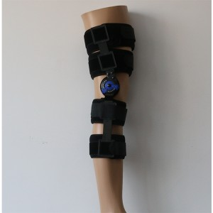 Motion Control Hinged ROM Knee splint brace for Post-Op recovery and rehabilitation