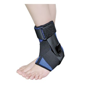 Strapped Ankle support Brace with extra reinforced straps for reducing swelling