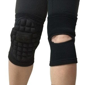 Thick Sponge-Padded Knit Elastic Knee Pad Goalkeeper Support  Sports Guard Brace Football Sleeve