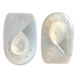 Gel heel cup with removable pads  both Silicone and PU gel available