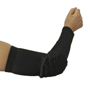 Honeycomb Anti-collision High Elastic Long Arm Sleeve Support  Gym Sports Basketball Shooting Elbow Arm Warmers Pad For Men Women