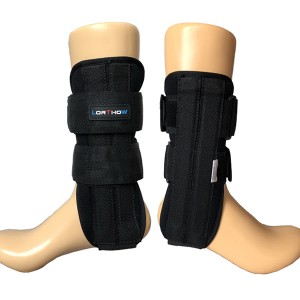 Stirrup Ankle supporting Brace with soft liner suitable for soft tissue injury
