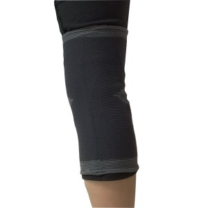 Medical Elastic Knit Knee Support Brace Wrap Sleeve with Cap Patella of Carbon Fiber material