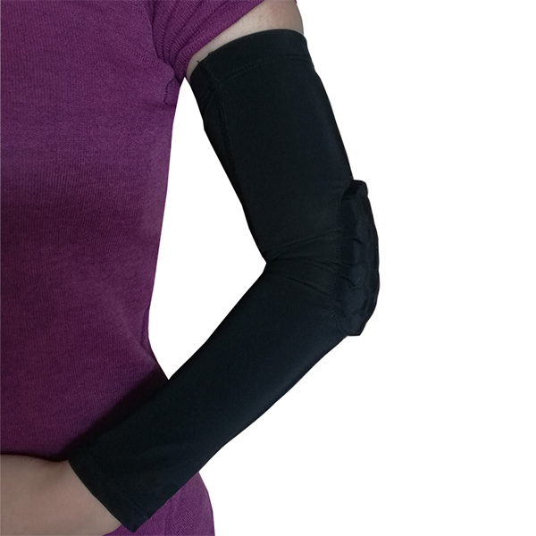Honeycomb Anti-collision High Elastic Long Arm Sleeve Support  Gym Sports Basketball Shooting Elbow Arm Warmers Pad For Men Women Featured Image