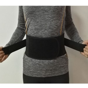 Corchet elastic band sacro lumbar brace binder with contoured rigid stays and extra straps for waist compression relief