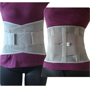 Ventilated Elastic Lumbosacral Back Support Brace preventing and relieving lower back pain from muscle strains and spasms