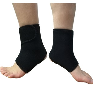 Stretchable Neoprene Ankle Wrap Brace with Velcro Wearable in walking and sports shoes