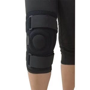Open petella knee stabilizer wrap with spring stays for  patella displacement prevention