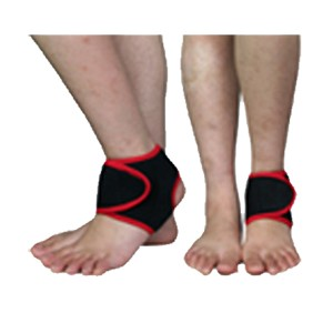 Open Ankle Brace of stretchable neoprene for optimum fit