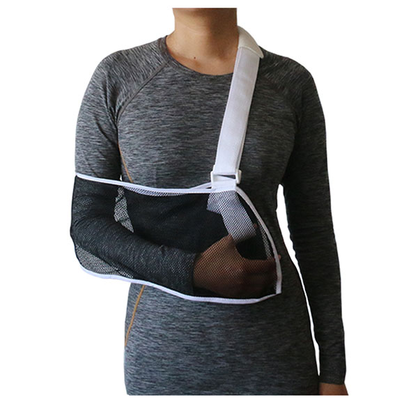 Lightweight Medical Mesh Arm Sling with Thumb Loop for Immobilization and Support Shoulder Mild Sprain Featured Image